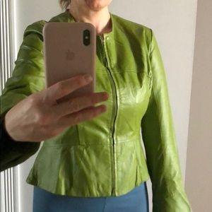 Shape FX green leather jacket, size 16